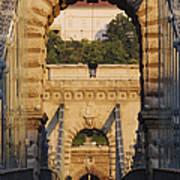 Empty Stone Bridge Art Print