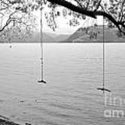 Empty Swings In The Rain Art Print