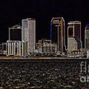 Energized Tampa - Digital Art Art Print