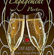 Engagement Party Card Art Print