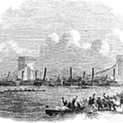 England: Boat Race, 1858 Art Print