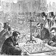 England: Chess Match Art Print