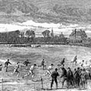 England: Foot Race, 1866 Art Print