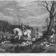 England: Fox Hunt, 1833 Art Print by Granger