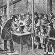 England: Soup Kitchen, 1862 Art Print