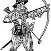 English Archer, 1634 Print by Granger