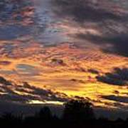 English Autumnal Sky Art Print