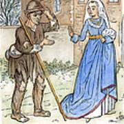 English Beggar, 1330 Art Print