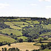 English Countryside Panorama Print by Jane Rix