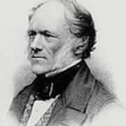 Engraving Of English Geologist Sir Charles Lyell Art Print