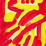 Engulfed Rage Art Print