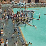 Enjoying The Pool At Jones Beach State Art Print