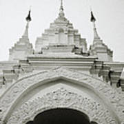 Entrance To Wat Suan Dok Art Print