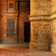 Entry To The Spanish Pavillion In Sevilla Spain Art Print