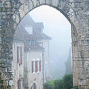 Entryway To St Cirq In The Fog Art Print