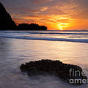 Enveloped By The Tides Print by Mike  Dawson