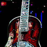 Eric Clampton's Guitar Art Print by David Alvarez