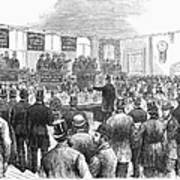Erie Railway Auction, 1878 Art Print