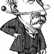 Ernest Rutherford, Caricature Art Print by Gary Brown