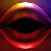 Erotic Lips Art Print