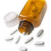 Erythromycin Antibiotic Pills Art Print