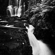 Ess-na-crub Waterfall On The Inver River In Glenariff Forest Park County Antrim Northern Ireland Art Print by Joe Fox