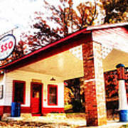 Esso Filling Station Art Print