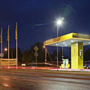 Estonian Gas Station At Night Art Print
