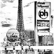 Etched Vegas Art Print