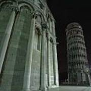 Ethereal Moonlight Scene Of Duomo Santa Print by Carson Ganci
