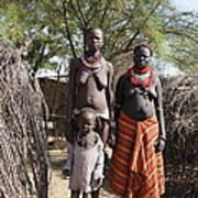 Ethiopia-south Tribeswomen No.1 Art Print
