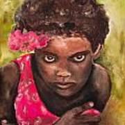 Etiopien Girl Art Print