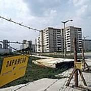 Evacuated Town Near Chernobyl, Ukraine Art Print
