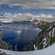 Evening At Crater Lake Panorama Art Print