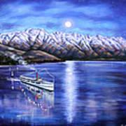 Evening Cruise Queenstown Art Print