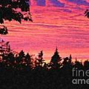 Evening In Paradise Painterly Style Art Print