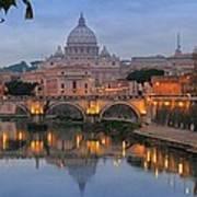 Evening In Rome Art Print