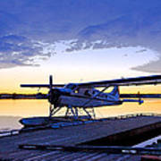 Evening Light On A Dehavilland Beaver- Abstract Print by Tim Grams
