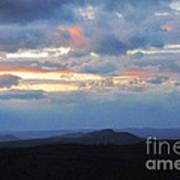 Evening Sky Over The Quabbin Art Print