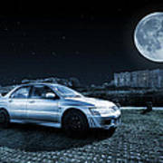 Evo 7 At Night Art Print