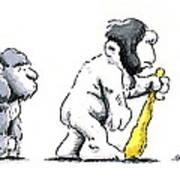 Evolution Of Man Art Print