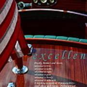 Excellence Art Print