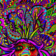 Exploding Head Art Print