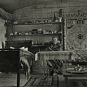 Explorer Joseph Rock Sitting Art Print