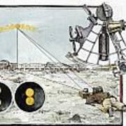 Explorer Robert E. Peary Uses The Sun Print by Richard Schlecht