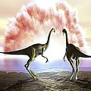 Extinction Of The Dinosaurs, Artwork Art Print by Jose Antonio PeÑas