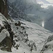 Extreme Skier Jean Franck Charlet Art Print