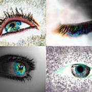 Eye Art Collage Art Print