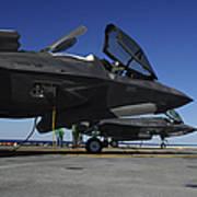 F-35b Lightning II Variants Are Secured Art Print