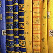 Fabrics From Provence Art Print